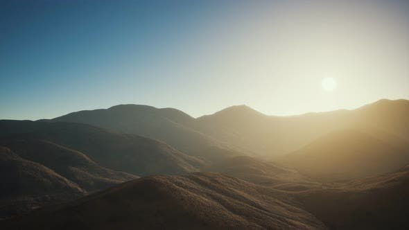 Thumbnail for Hills with Rocks at Sunset