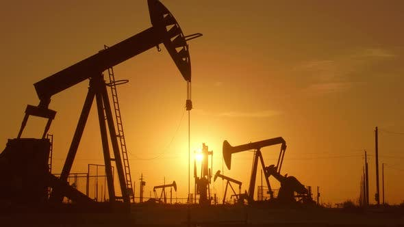 Thumbnail for Large Oil Field At Sunrise
