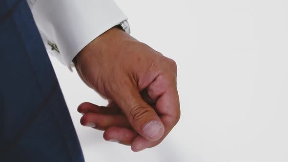 Thumbnail for Businessman in White Shirt with Cuff Link in Modern Office