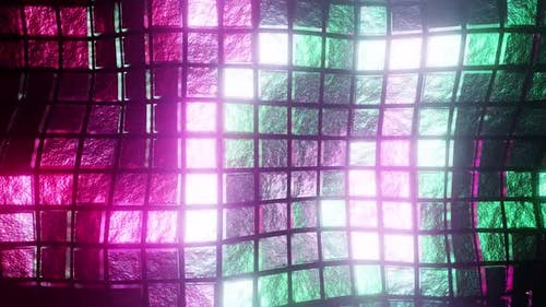 Bright Colored Wave Cubes Background HD