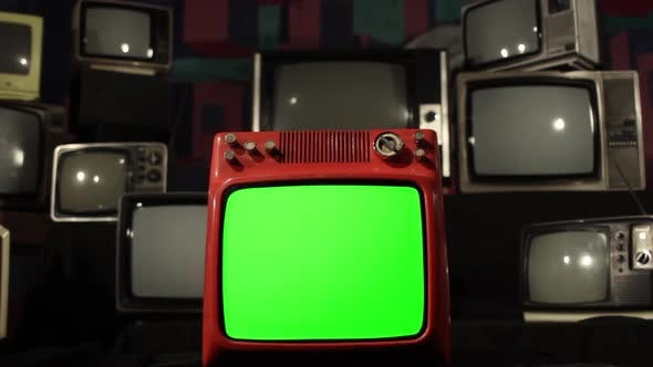 Exploding TV with Green Screen.