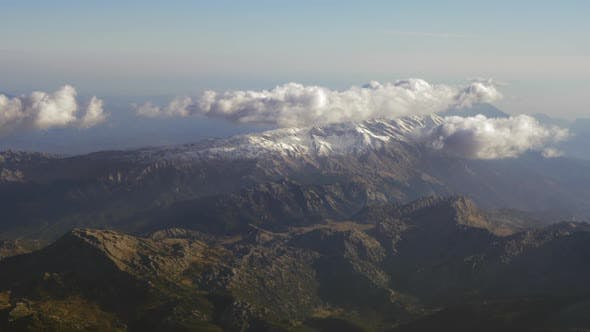 Thumbnail for - Aerial Mountain Scenery with Clouds