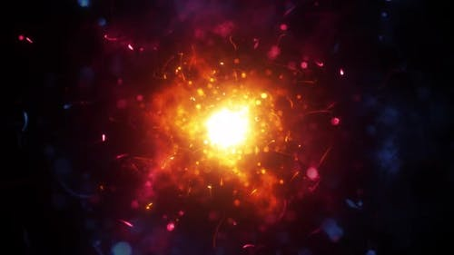 Chaotic Magic Particles Background