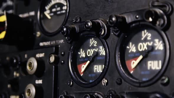 Thumbnail for Dashboard of an Old Fighter Aircraft.