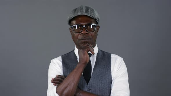 Thumbnail for Intelligent African Gentleman in Eyeglasses