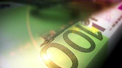 Euro money counting seamless loop