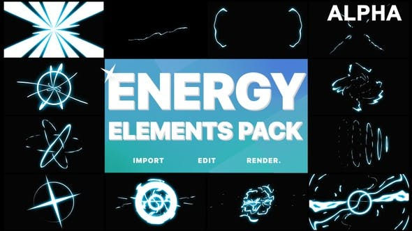 Cartoon Energy Elements Pack | Motion Graphics Pack