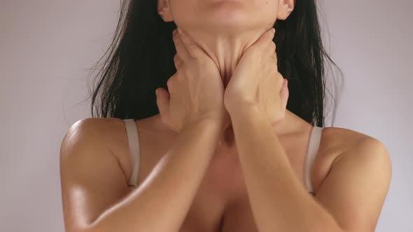 Body Cream on Collarbone