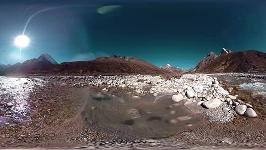 Thumbnail for VR of Dingboche and Pheriche Village in Nepal, Basic Point of Everest Base Camp Track. EBC