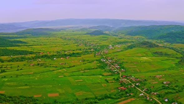 Thumbnail for Aerial View on Rural Scene