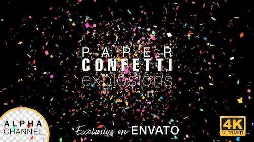 Celebration Confetti Alpha-Kanal
