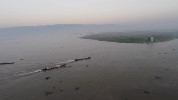 Thumbnail for Local People on Their Way To Open Waters of Inle Lake.