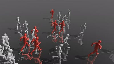 Running Guys 3D Abstract Animation