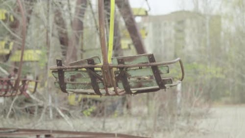 Chernobyl Exclusion Zone. Pripyat. Abandoned Park in the City Center