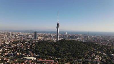 Radio Tower Transmitter Istanbul Drone