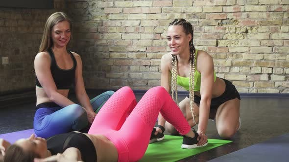 Thumbnail for Group of Female Friends Working Out Together at the Gym