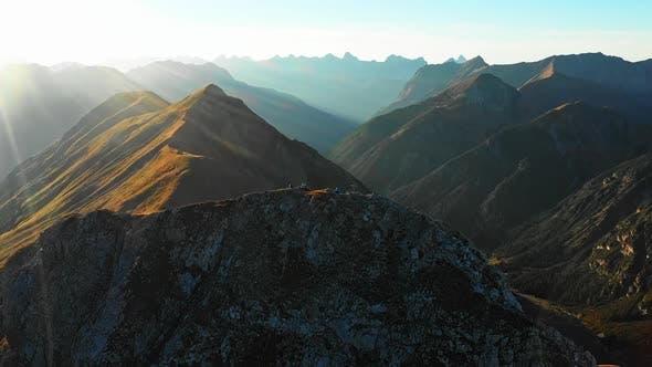 Men Resting in Seekarspitze Summit