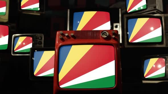Thumbnail for Flag of Seychelles and Retro TVs.
