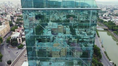 City Reflections In The Glass Skyscraper Windows
