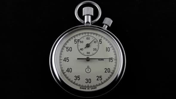Thumbnail for Mechanical Stopwatch Two Button on a Black Background