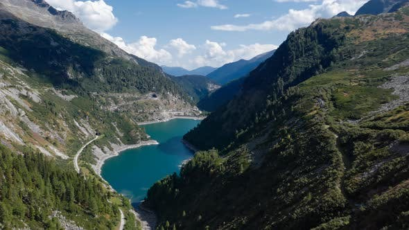 Hyperlapse of Mountain Lake in Carinthia, Austria