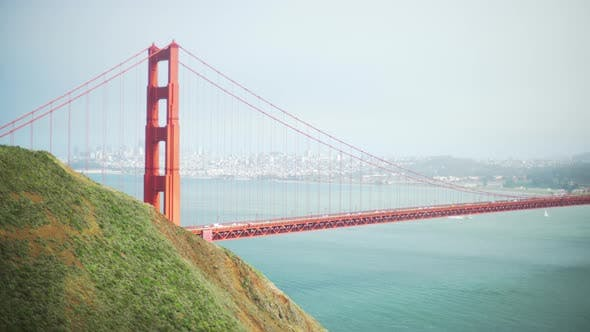 Thumbnail for View of San Francisco Golden Gate bridge from the Marin Headlands