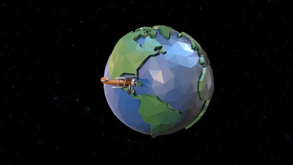 Thumbnail for Low Poly Earth Plane Space