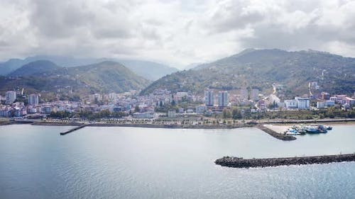 Trabzon City Seaside Aerial View