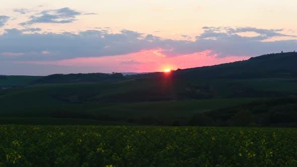 Thumbnail for Timelapse of Beautiful Orange Sunset