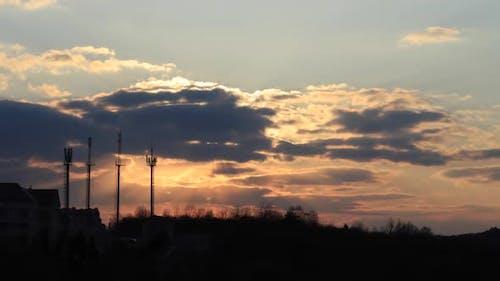 Beautiful time lapse sun set
