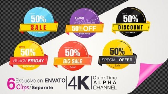 50 Percent Sales Discount Banner