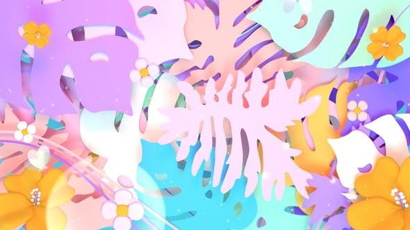 Thumbnail for Pastel Leaves and Butterflies