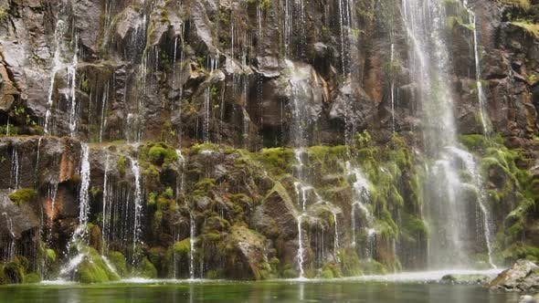 Thumbnail for Close Up View of Waterfall Slow Motion 100Fps Loop