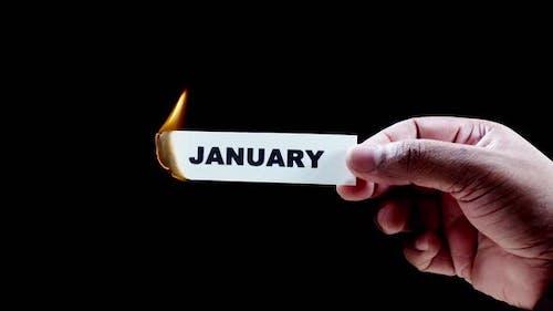 Burning Paper Writing January
