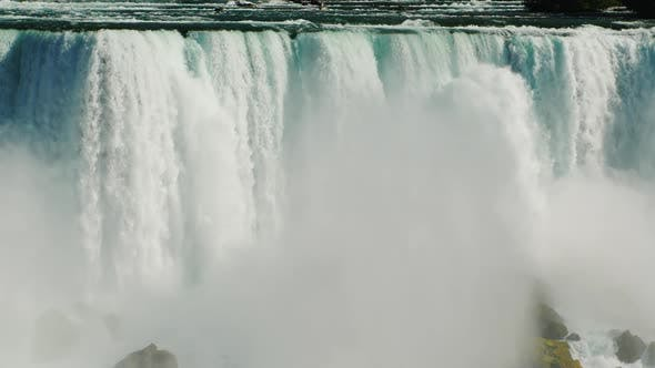 Thumbnail for The Water Wall of Niagara Falls and the Bridge Over the River