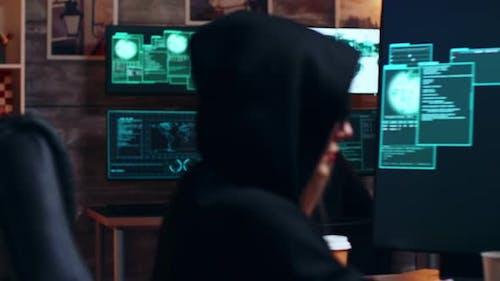 Zoom in Shot Organized Cyber Criminals