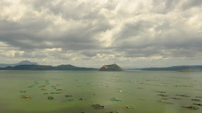 Time Lapse Taal Volcano in Lake