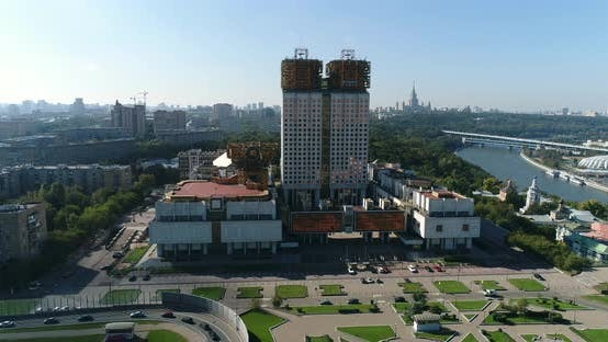 Thumbnail for Air View Of Moscow City With Academy Building 2