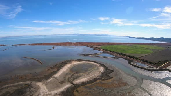 Hamilton Wetlands Aerial View San Pablo Bay Novato California