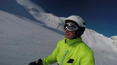 Skiing at Blue Sky Medium Shot