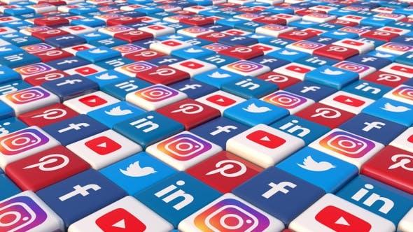 Social Media Blocks Background - Version 6