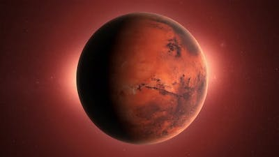Mars Planet in the Space