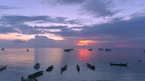 Cover Image for Boats And Sunset