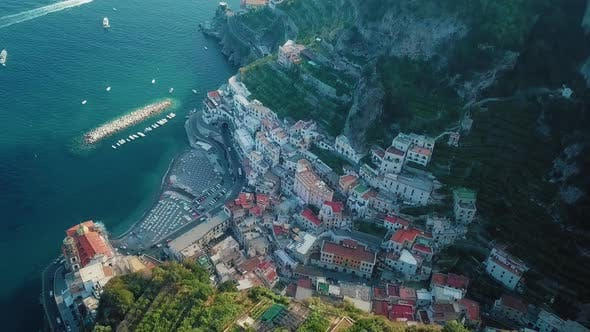 Thumbnail for A Fascinating View of the Ravello and Atrani Aerial, Amalfi Coast