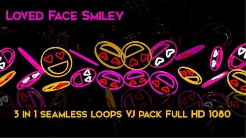 Loved Face Smiley VJ Loops