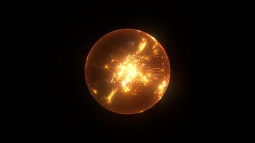 Magic Fire Particles Sphere