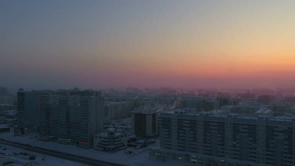 Winter in a Siberian City