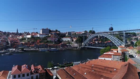 Thumbnail for Porto Landscape View From Cable Car