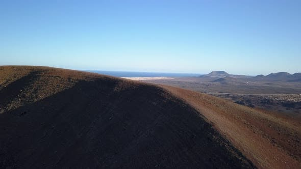 Thumbnail for Aerial View of the Movement Going Up To the Top of the Volcano