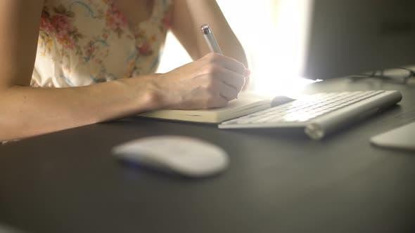 Thumbnail for Female Writing Diary